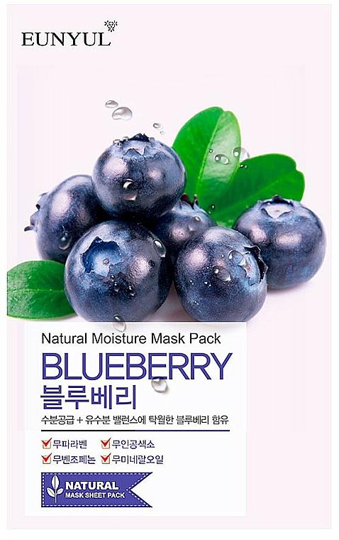 Maschera viso in tessuto all'estratto di mirtillo - Eunyul Natural Moisture Blueberry Mask