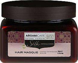Profumi e cosmetici Maschera capelli con proteine della seta - Arganicare Silk Hair Masque