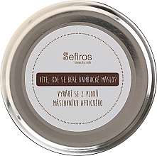 Profumi e cosmetici Burro di karitè - Sefiros Shea Butter