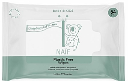 Profumi e cosmetici Salviettine detergenti - Naif Wet Wipes 54St Plastic Free
