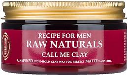 Profumi e cosmetici Cera per capelli - Recipe For Men RAW Naturals Call Me Clay
