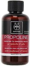 Profumi e cosmetici Shampoo con olio di girasole e miele - Apivita Propoline Shampoo For Colored Hair