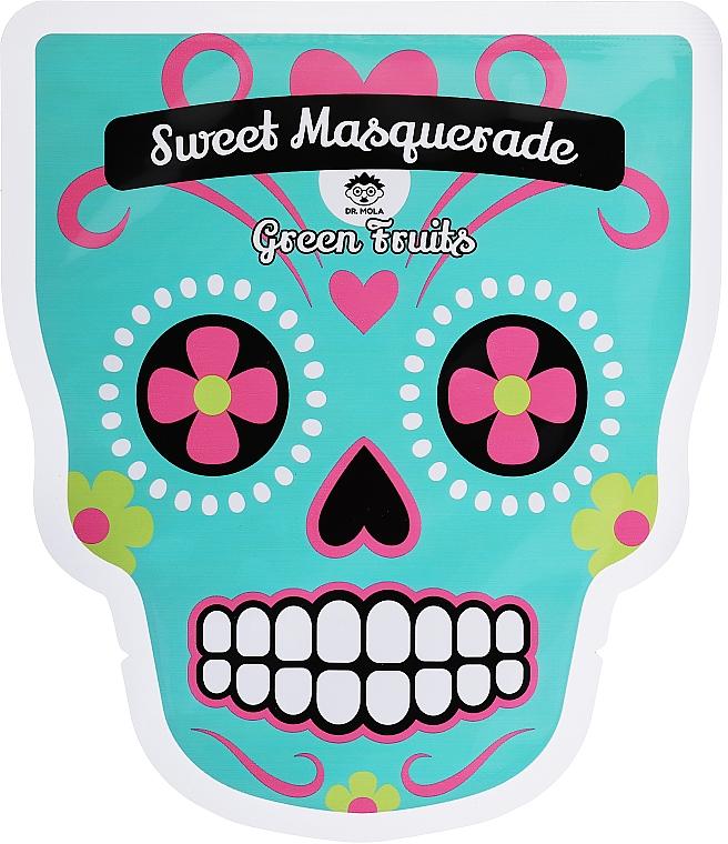 Maschera viso in tessuto - Dr Mola Sweet Masquarade Green Fruits mask