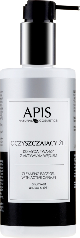 Gel detergente con carbone di legna - APIS Professional Cleansing Gel