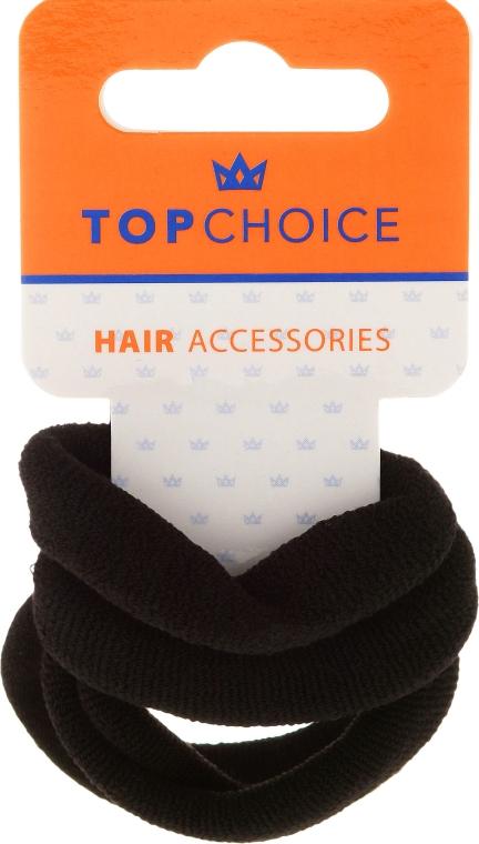 Elastici per capelli 4 pz, neri - Top Choice