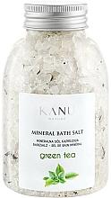"""Profumi e cosmetici Sale da bagno minerale """"Tè verde"""" - Kanu Nature Mineral Green Tea Bath Salt"""