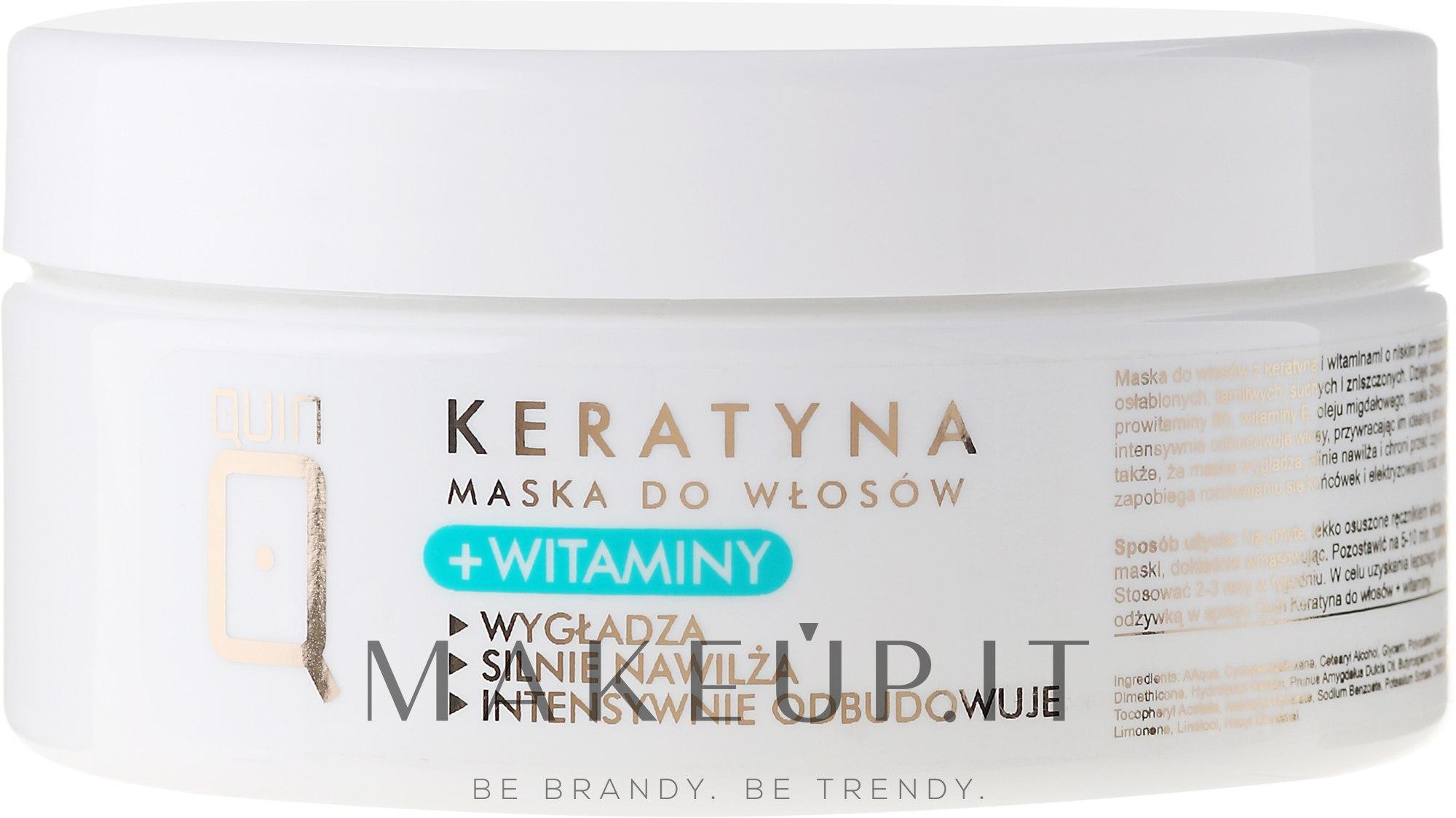 Maschera per capelli con cheratina e vitamine - Silcare Quin Keratin & Vitamins Hair Mask — foto 250 ml