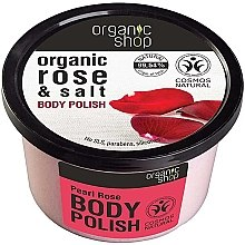 "Profumi e cosmetici Scrub corpo ""Rosa e sale"" - Organic Shop Rose & Salt Body Polish"