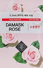 Profumi e cosmetici Maschera viso ultrasottile con estratto di rosa damascena - Etude House Therapy Air Mask Damask Rose