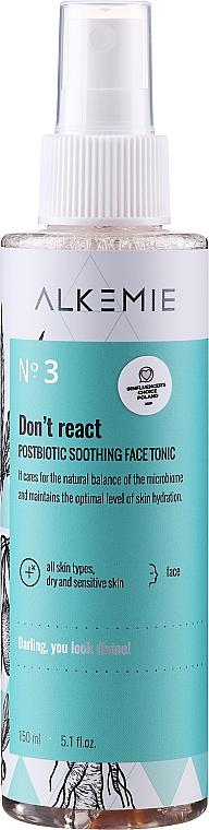 Tonico viso lenitivo - Alkemie Microbiome Dont React Face Tonic