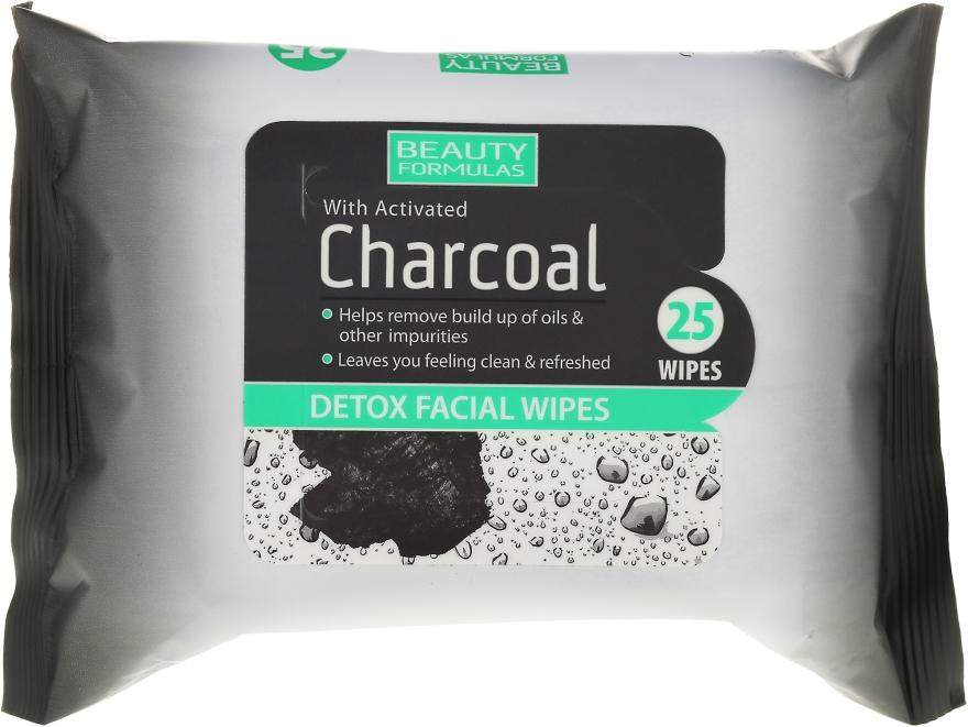 Salviette detergenti viso - Beauty Formulas Charcoal Detox Facical Wipes