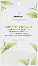 Profumi e cosmetici Maschera idratante al tè verde - SesDerma Laboratories Beauty Treats Green Tea Therapy Mask