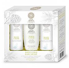 Profumi e cosmetici Set - Natura Siberica White Cedar Hair Care Kit (shm/250ml + balm/250ml + mask/200ml)