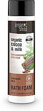 """Profumi e cosmetici Bagnoschiuma """"Nutrizione della pelle, latte al cioccolato"""" - Organic Shop Organic Cacao and Milk Milky Bath Foam"""