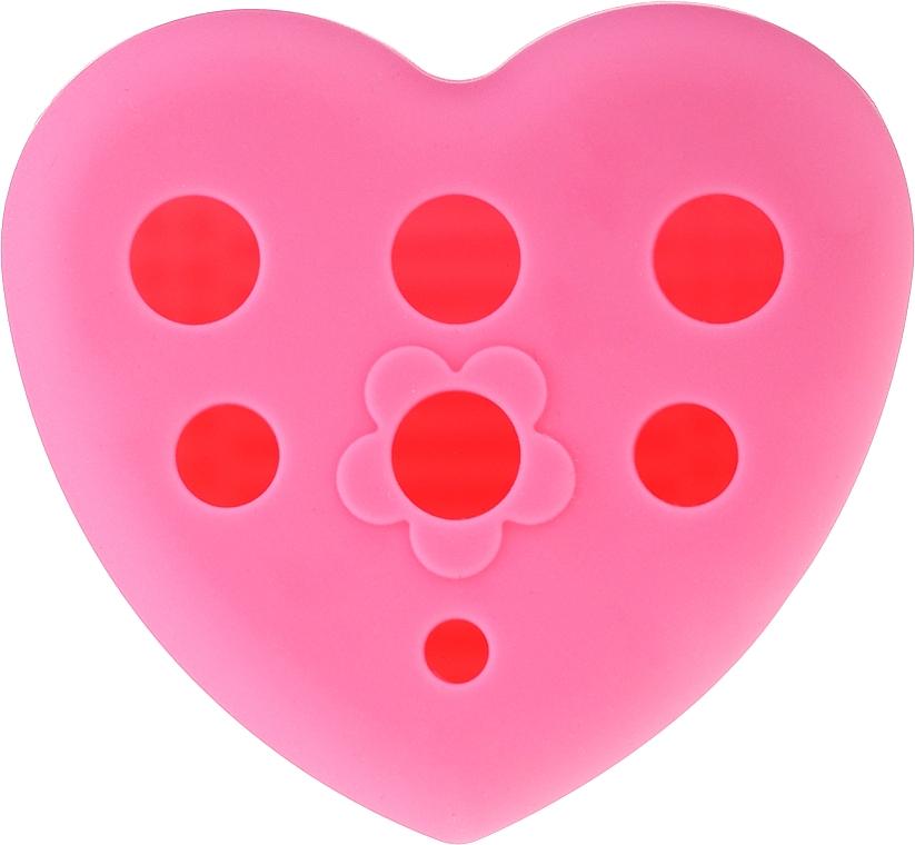 Spazzola in silicone per lavare e asciugare i pennelli da trucco con supporto, rosa - Lash Brow — foto N1