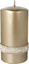 Profumi e cosmetici Candela decorativa dorata, 7x14cm - Artman Crystal Opal Pearl