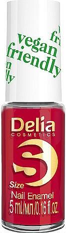 Smalto per unghie - Delia Cosmetics S-Size Vegan Friendly Nail Enamel