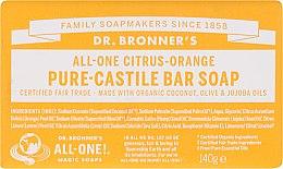 """Profumi e cosmetici Sapone """"Agrumi e Arancia"""" - Dr. Bronner's Pure Castile Bar Soap Citrus & Orange"""