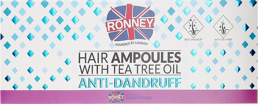 Fiale antiforfora per capelli - Ronney Hair Ampoules With Tea Tree Anti-Dandruff — foto N1
