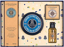 Profumi e cosmetici Set - L'Occitane Karite (h/cr/150ml + b/cr/100ml + sh/oil/35ml + soap/50g)