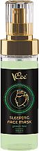 Profumi e cosmetici Maschera viso con estratto di tè verde, da notte - Vcee Sleeping Facr Mask Green Tea