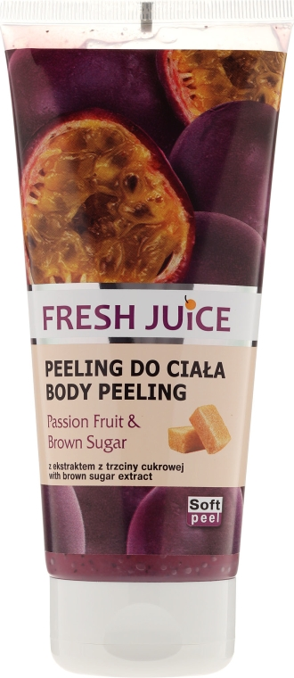 """Peeling corpo """"Frutto della passione e zucchero di canna"""" - Fresh Juice Passion Fruit & Brown Sugar"""