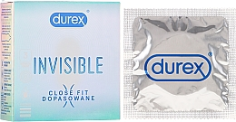 Profumi e cosmetici Preservativi, 3 pezzi - Durex Invisible Close Fit