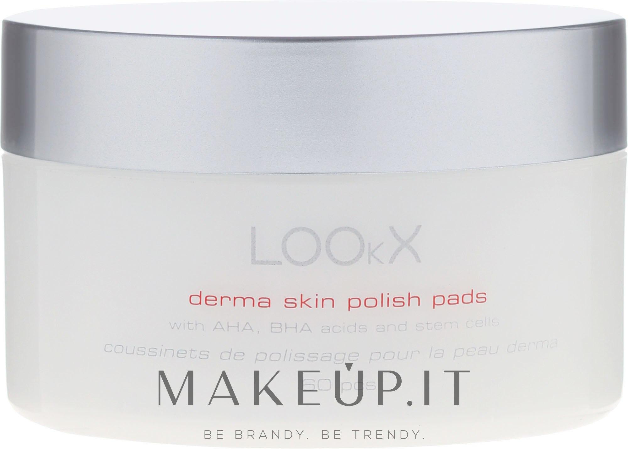 Polish Pads con acidi AHA e BHA per il viso - LOOkX Derma Skin Polish Pads — foto 60 pz.