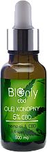 Profumi e cosmetici Olio di canapa CBD 5% - BIOnly