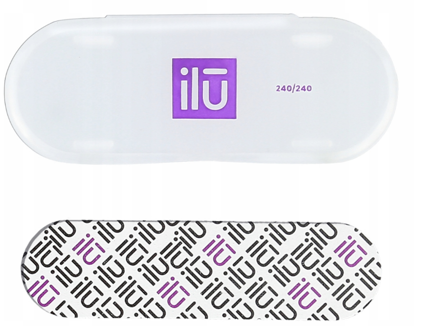 Lima unghie - Ilu Nail File With Case Mini 240/240