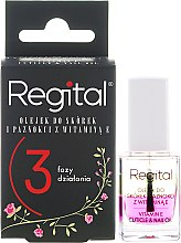 Profumi e cosmetici Olio trifasico per unghie e cuticole - Regital Three-phase Cuticle And Nail Oil