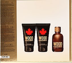 Dsquared2 Wood Pour Homme - Set (edt/50ml + sh/gel/50ml + ash/b/50ml) — foto N2