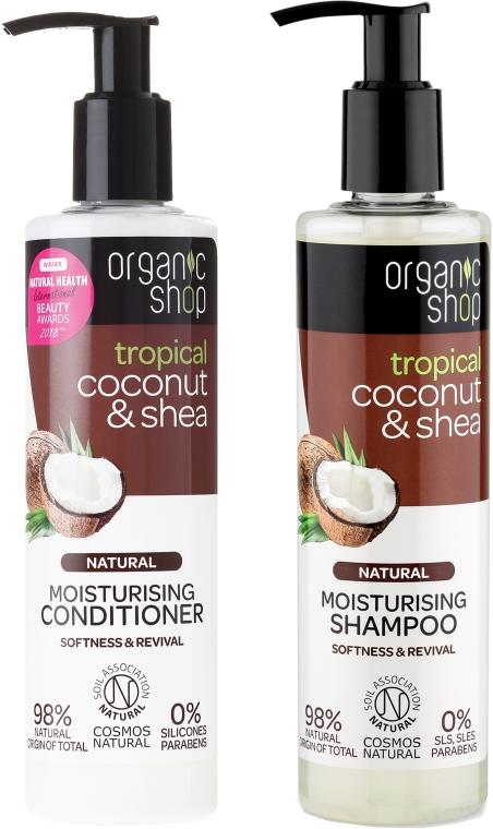 Set per la cura dei capelli - Organic Shop (h/shm/280ml + h/cond/280ml)