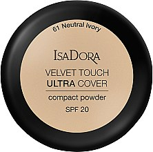 Profumi e cosmetici Cipria - IsaDora Velvet Touch Ultra Cover Compact Powder SPF 20 (61 -Neutral Ivory)