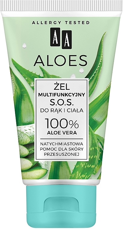 """Gel multifunzionale all'aloe vera """"S.O.S."""" per mani e corpo - AA Aloes"""