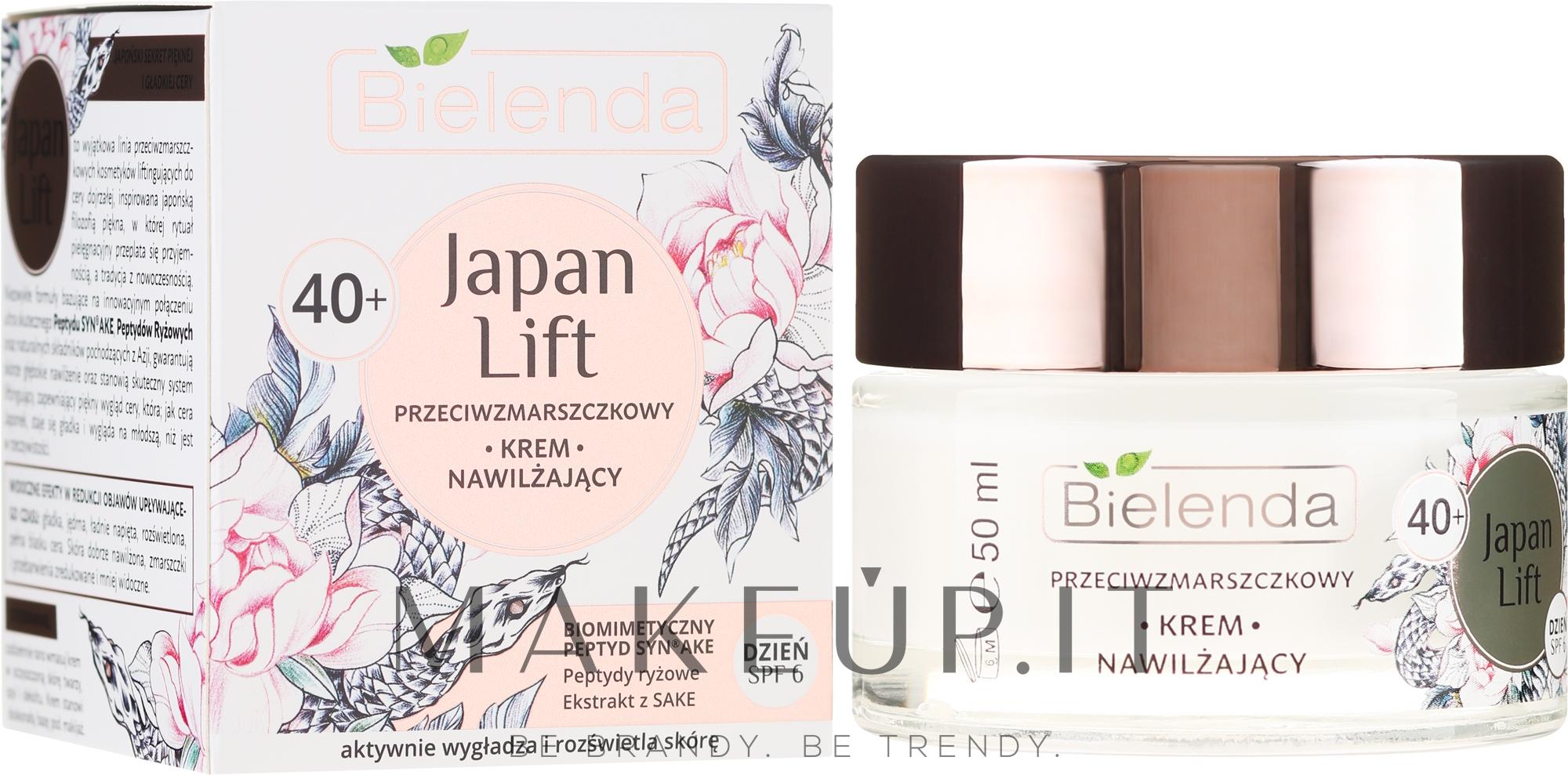 Crema idratante antirughe da giorno 40+ - Bielenda Japan Lift Day Cream SPF6 — foto 50 ml