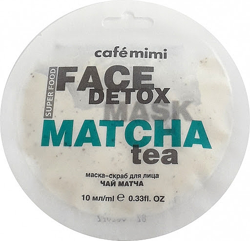 "Maschera-scrub ""Match e Aloe Vera"" - Cafe Mimi Face Mask"
