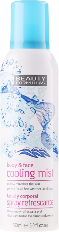 Spray rinfrescante per viso e corpo - Beauty Formulas Cooling Mist Spray