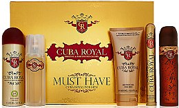 Profumi e cosmetici Cuba Royal Must Have - Set (edt/100ml + ash 100ml + sh/gel/200ml + deo/200ml + edt/35ml)