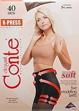 """Profumi e cosmetici Collant """"X-press"""" 40 Den, bronz - Conte"""