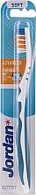 Profumi e cosmetici Spazzolino denti, morbido Advanced, bianco e blu - Jordan Advanced Soft Toothbrush