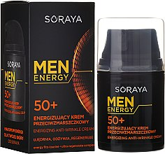 Profumi e cosmetici Crema antirughe, nutriente e rigenerante 50+ - Soraya Men Energy