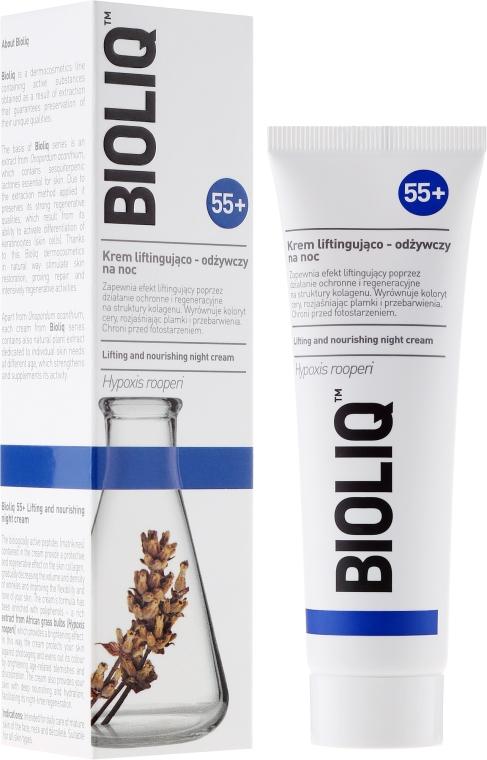 Crema viso lifting e nutriente 55+, da notte - Bioliq 55+ Lifting And Nourishing Night Cream