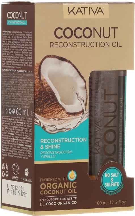 Olio capelli riparatore - Kativa Coconut Reconstruction Oil