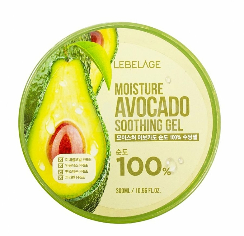 Gel viso - Lebelage Moisture Avocado 100% Soothing Gel