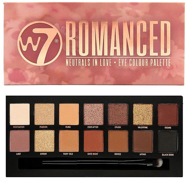 Palette di ombretti - W7 Romanced Eyeshadow Palette