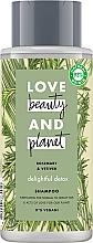 Profumi e cosmetici Shampoo detergente per capelli normali e grassi - Love Beauty&Planet Delightful Detox Rosemary & Vetiver Vegan Shampoo