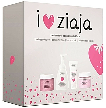 Profumi e cosmetici Set - Ziaja I Love Ziaja Marshmallow (b/peeling/300ml + h/cr/50ml + shower/gel/260ml + b/foam/250ml)