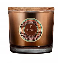 "Profumi e cosmetici Candela profumata in bicchiere ""Sandalo"" - Flagolie Fragranced Candle Sandalwood"