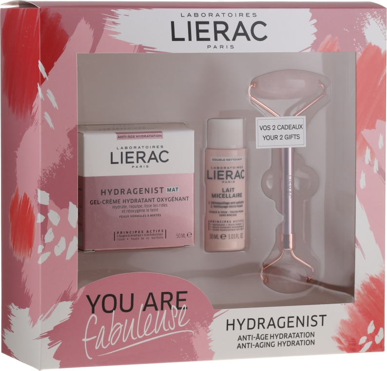 Set - Lierac Hydragenist (cr/50ml + f/milk/30ml + roller/1)